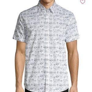 Ben Sherman Short Sleeve Animal Face Print Shirt